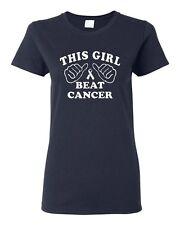 Ladies This Girl Beat Cancer Survive Cancer Survivor Survival T-Shirt Tee