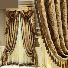 luxury European custom high-grade Retro Jacquard cloth blackout curtain E484