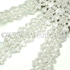 Tessuto argento con strass pietra APPLIQUE, Motif, bordatura, Ritaglia, paillettes, perline