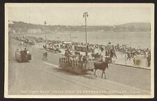 I.O.M.  DOUGLAS Promenade Horse Trams PPC