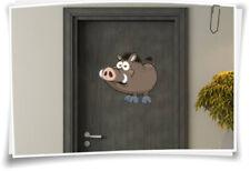 Türaufkleber Kinder Aufkleber Tür Kindername Baby Kinderzimmer Wildschwein