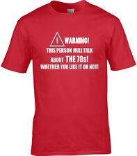 setenta años 70 Camiseta Hombre - Divertido de tendencia décadas Historia