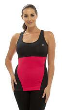 Ladies Sportswear/Fitness Black & Pink Sports Yoga / Gym Vest Top