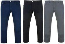 aderente, DA UOMO STRETCH CHINO taglio jeans pantaloni KAM ALBA 30-40 S regolari