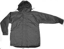 Fleece Lined Rain Jacket Size XS S M L XL 2XL 3XL Black Coat Mens Ladies