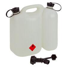 Doppelkanister ECO 5,5 + 3 Liter transparent Kombikanister Forstkanister Profi