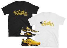 "Nike Air Max Plus 97 95 Frequency Tour Yellow Black White ""Hustle"" SHIRTS"