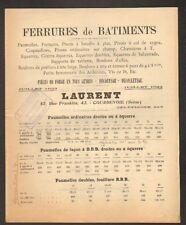 "COURBEVOIE (92) USINE de FERRURE en BATIMENT / FORGE ""LAURENT"" en 1922"