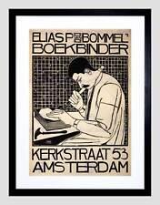 ADVERT BOOKBINDER VAN BOMMEL AMSTERDAM NETHERLANDS FRAMED ART PRINT B12X4136