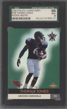 2000 Pacific Vanguard #126 Thomas Jones SGC 96 MINT 9 Arizona Cardinals Card