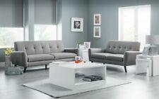 Julian Bowen Monza Sofa Range - Sumptuous Linen Style Grey Fabric - Stunning