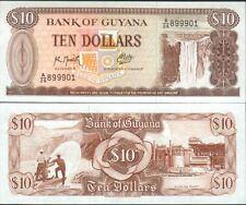 GUYANA billet neuf de 10 dollars Pick23f MINE BAUXITE USINE ALUMINIUM 1992