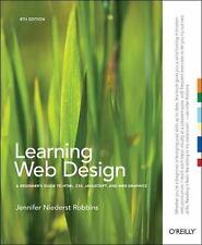 LEARNING WEB DESIGN - ROBBINS, JENNIFER NIEDERST - NEW PAPERBACK BOOK
