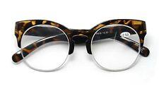 TN18 Tortoise Clubmaster Round Lens Vintage  Reading Glasses  +1.0+1.5+2.0+2.5
