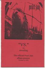 PEARL JAM 1993 VS. ALBUM RELEASE PARTY PROGRAM RARE COA ORIGINAL!! EDDIE VEDDER