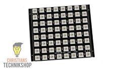 WS2812 8x8 RGB-LED-Matrix | 64 5050 LEDs für helle Farben | für Arduino