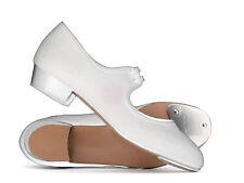 Girls Ladies White Canvas Low Heel Tap Dance Shoes All Sizes By Katz Dancewear