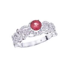 14k White Gold Ruby/ Diamond Ring
