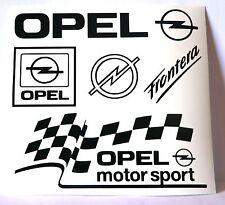 Kit 5 adesivi OPEL decal sticker astra vectra corsa gsi calibra turbo set c20let