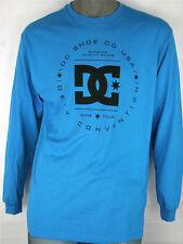 DC Shoe Co USA Defy Convention Superior  Long Sleeve T Shirt Blue 100% Cotton
