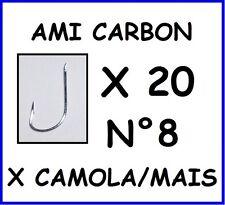 20 AMI N°8 GAMBO LUNGO DA PESCA GARDON CARASSIO PER INNESCO MAIS CAMOLA TROTA