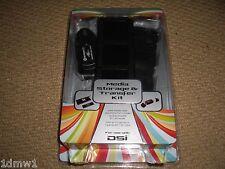 CARTUCCIA DI GIOCO NINTENDO DSi Casi & USB SD CARD READER Pack Nero Nuovo di zecca!