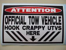 FUNNY WARNING UTV SIDE BY SIDE OFFROAD BUGGY MUD BOG TRAIL 4X4 STICKER DECAL 636