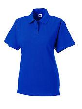 Russell Jerzees Royal Medio Azul Piqué Algodón Mujer Camisa Polo Golf Nologo