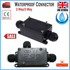 IP65 2/3 Way Underground Cable Wire Connectors Junction Box Outdoor Waterproof