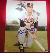 Eddie Mathews signed photo-Hof