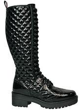 No Way 20-loch Damenstiefel Boot Sint Patent Lack Brogue Stiefel  5008