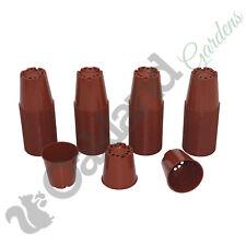 """6 cm vasi piante piccole in Plastica Terracotta Vaso di Fiori Cactus Tiny di alta qualità 2.5"""""""