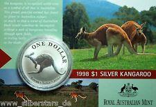 1 dollari ARGENTO CANGURO/KANGAROO 1998 1 OZ BLISTER