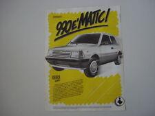 advertising Pubblicità 1987 INNOCENTI MINI 990 MATIC