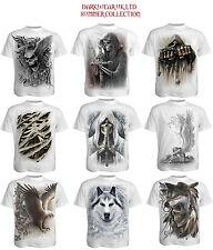 Spiral Direct Full Range White T shirts/Skull/Angel/Wolf/Skeleton/Goth/Biker/Top