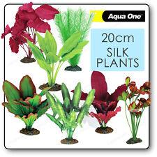 AQUARIUM SILK PLANTS Artificial Fish Tank DECOR Plastic Small Medium Biorb Biube