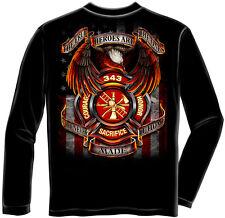 Erazor Bits Apparel Long Sleeve T-Shirt True Hero Firefighter