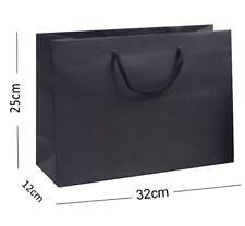 noir recyclé Paysage boutique magasin Sac cadeau - solide Corde anse sac