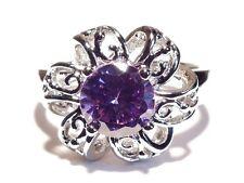 Damen Ring Lola, Metall-Legierung, rhodiniert, Zirkonia