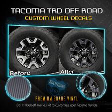 Fit 2016-2019 Toyota Tacoma TRD OffRoad Wheels Vinyl Decal - Matte Carbon Fiber