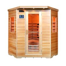 Sauna 4 person infra-red Oslo Ceramic Quartz Canadian Pine Wood Stress Relief
