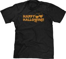 Happy Hallowine Halloween Pun Parody Funny Drunk Joke Drinking Humor Mens Tee