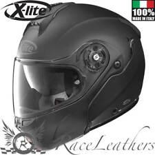 X-LITE x-1004 Elegance N-Com flach schwarz aufklappbar vorne Motorrad Helm