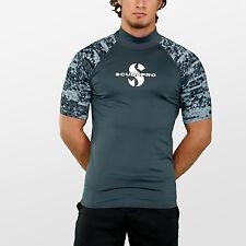 Scubapro GRAPHITE Rash Guard Kurzarm Herren Slim Fit UV-Shirt Collection 2018