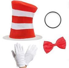 chat chapeau bonnet à rayures GANTS CRAVATE Costume Déguisement fou enfants