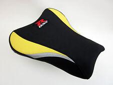 S14 Suzuki GSXR 1000 K5, K6 seat cover upgrade Yellow, Black and Silver-FRONT