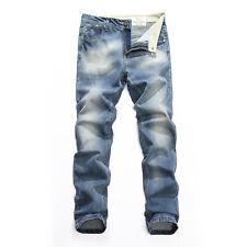 FOX JEANS Men's Franklin Slim Fit Straight Blue Denim Jeans Size 32-44