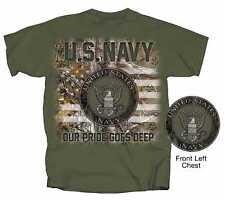 MILITARY U.S. NAVY SEAL REALTREE MEN'S MILITARY GREEN COTTON TEE SHIRT