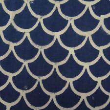 Hand Block Printed 100% Cotton Dress Voile Running Sewing Fabric Jaipuri