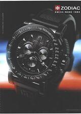 PUBLICITE ADVERTISING 2011   ZODIAC montre tachymeter       120612